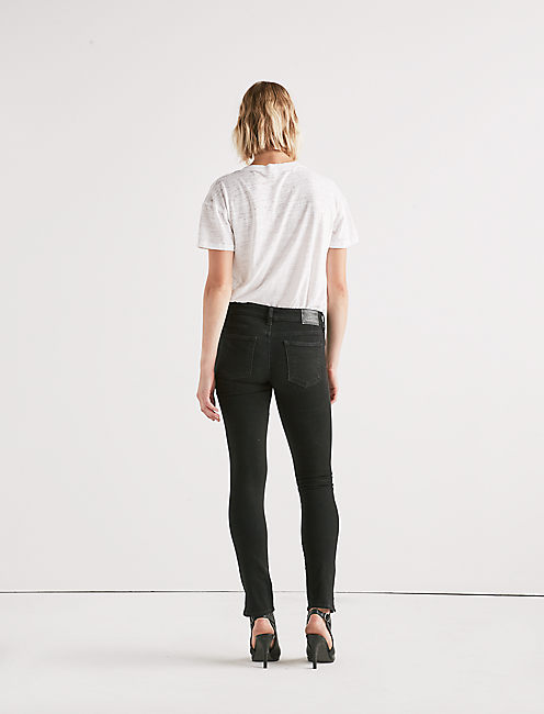 Lolita Mid Rise Skinny Jean with Vent,