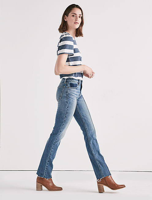 Lucky Remade Ava Mid Rise Slim Straight Jean