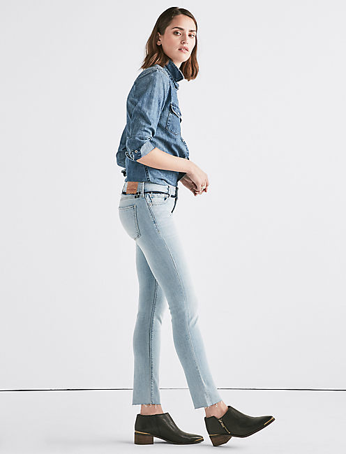 Lucky Lolita Mid Rise Skinny Jean With Custom Waistband