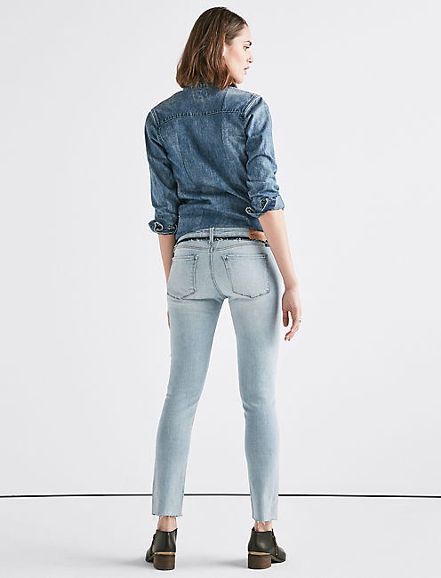 Lolita Mid Rise Skinny Jean with Custom Waistband,