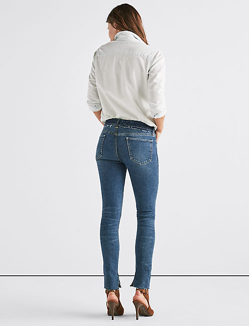 LUCKY REMADE AVA SKINNY JEAN WITH CONTRAST WAISTBAND,