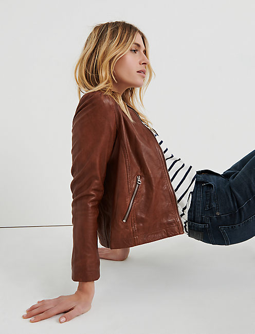 Lucky Puff Sleeve Leather Jacket
