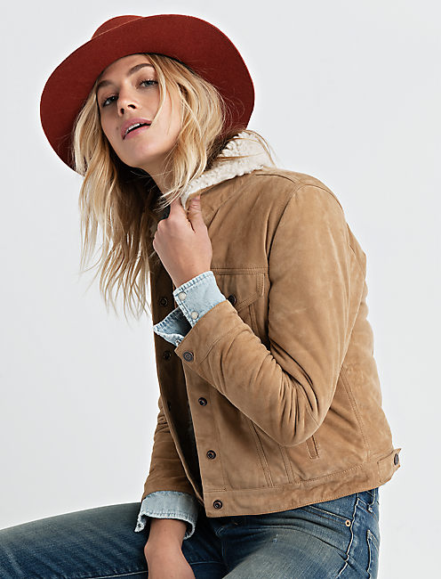 Lucky Shearling Collar Trucker