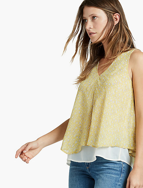 YELLOW DOUBLE LAYER TANK, YELLOW MULTI