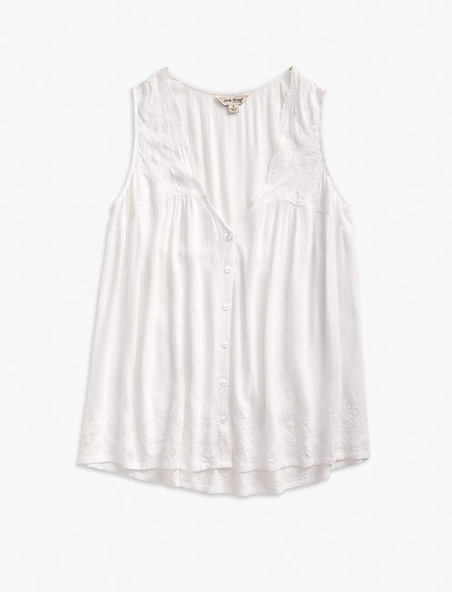 SCALLOP EMBROIDERED TANK,
