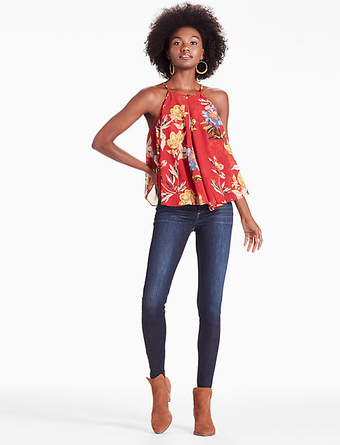 FLORAL PHIL TANK, RED MULTI
