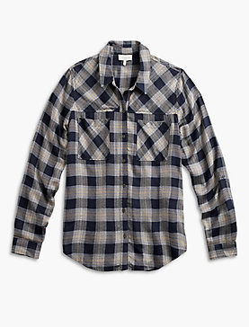 PLAID YOKE SHIRT
