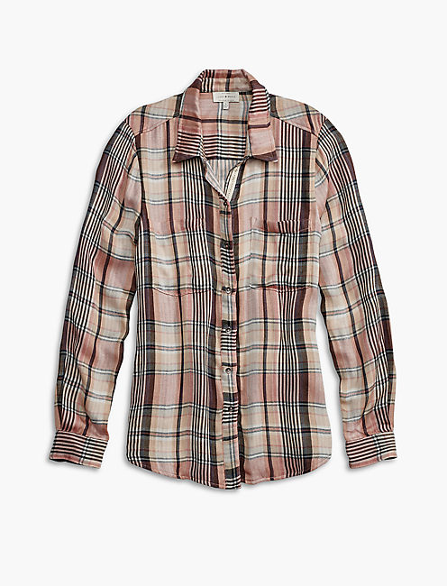 PLAID YOKE SHIRT,