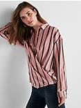 LONG SLEEVE STRIPE BUTTON DOWN SHIRT,