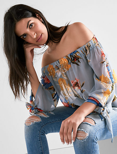 FLORAL OFF SHOULDER TOP,