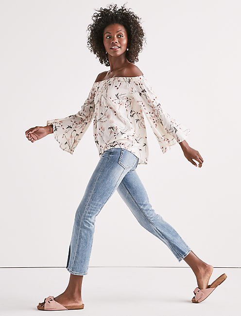 Lucky Off Shoulder Floral Top
