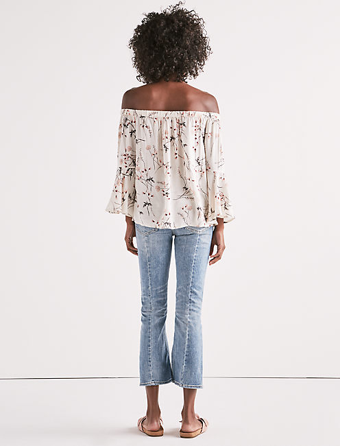 OFF SHOULDER FLORAL TOP,