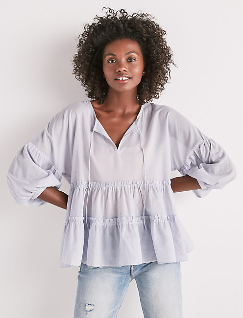 TIERED PEASANT TOP,
