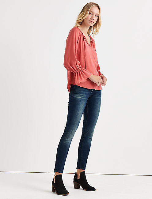 PARACHUTE BELL SLEEVE TOP, BRICK