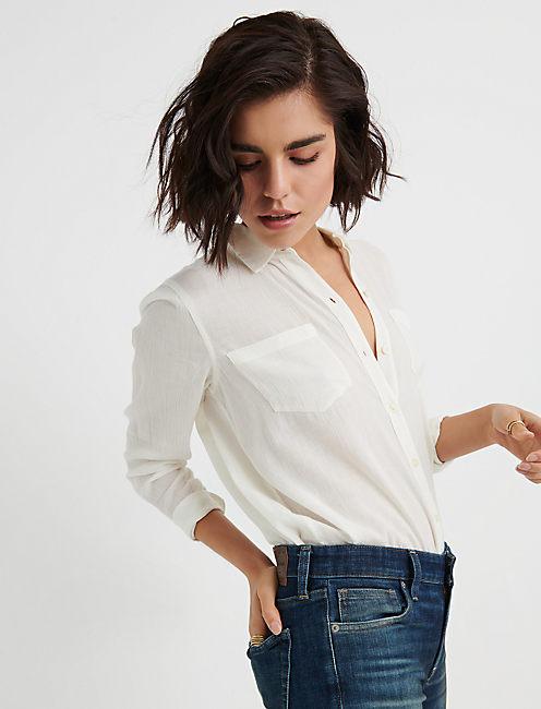 LS CLASSIC SHIRT, LUCKY WHITE