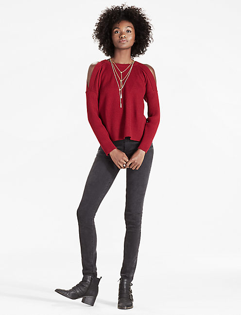 Lucky Cold Shoulder Sweater