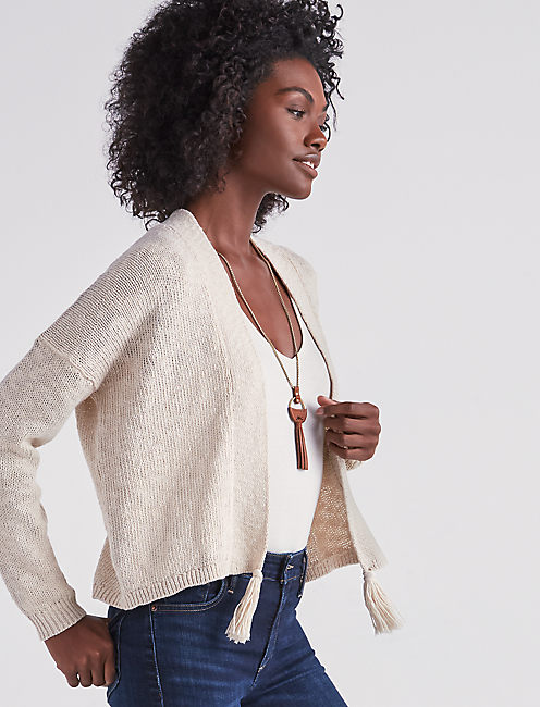 SWEATER KNIT CARDIGAN,