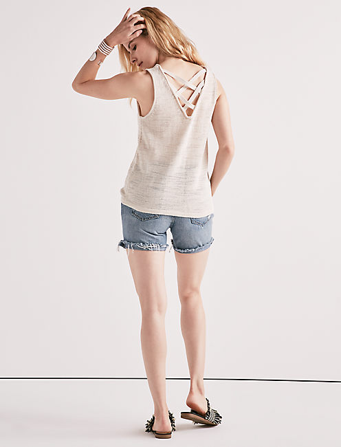 Lucky Cross Back Sweater Tank