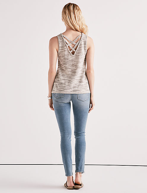 CROSS BACK SWEATER TANK,