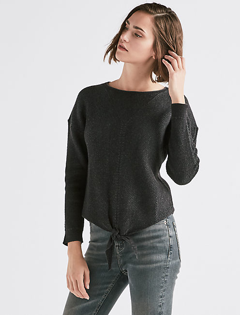 TIE FRONT SWEATER,