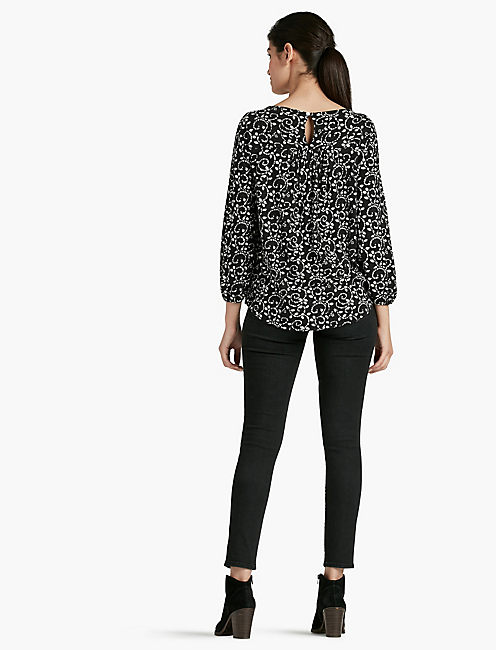 STAMP MIX EMBROIDERED TOP,