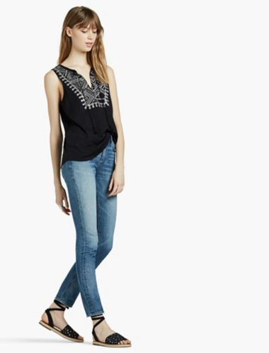 LUCKY EMBROIDERED SEQUIN TANK