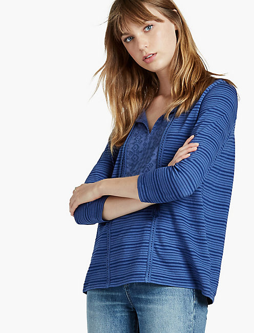 SHADOW STRIPE TOP,