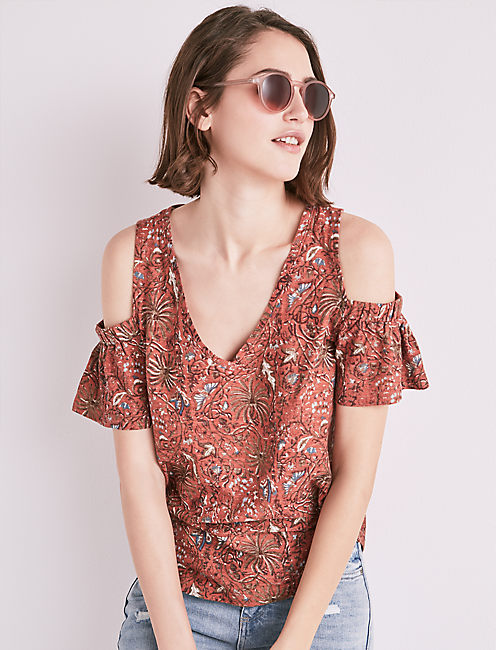 COLD SHOULDER TOP,