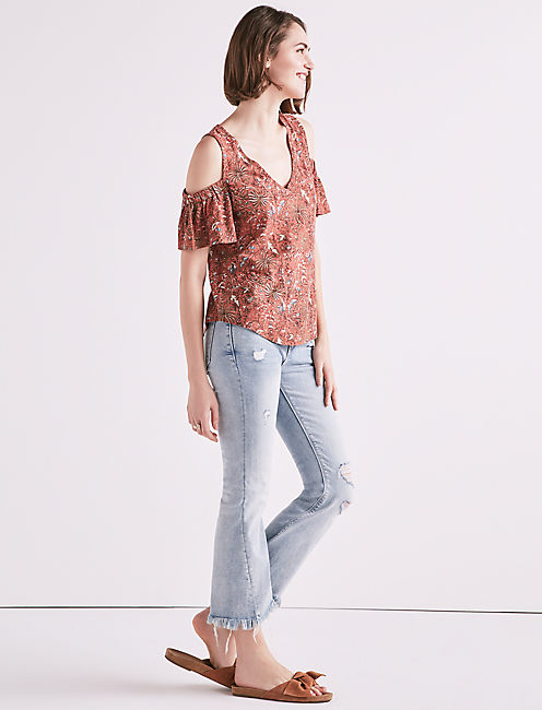Lucky Cold Shoulder Top