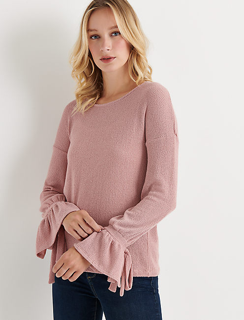 TIE SLEEVE THERMAL TOP,