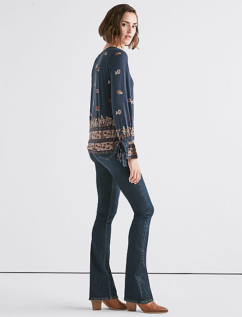 Lucky Tie Sleeve Paisley Top