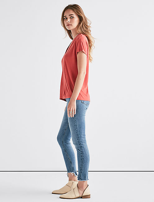 Lucky Sandwash V-Neck Top
