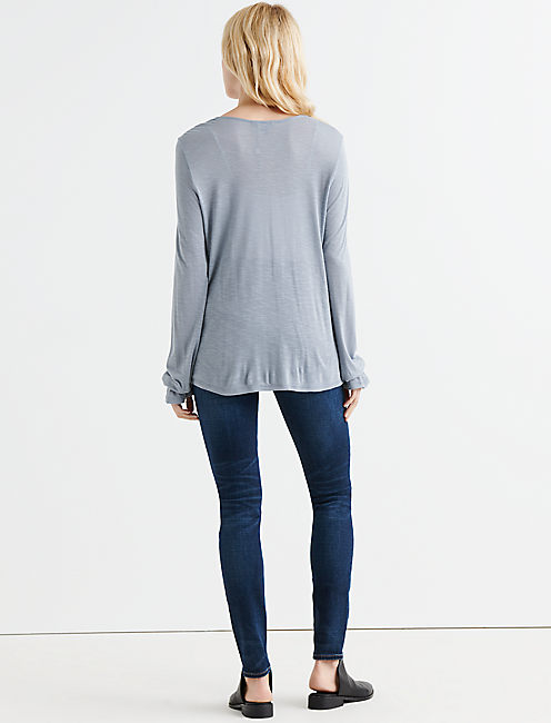 PINTUCK PEASANT TOP,