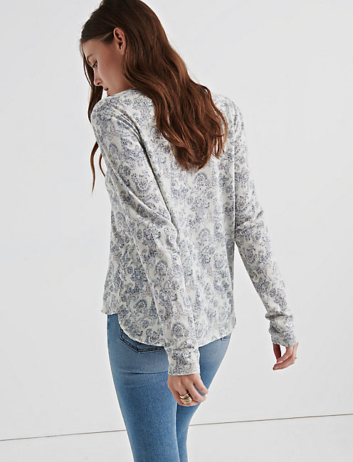 PAISLEY SEAMED HENLEY,