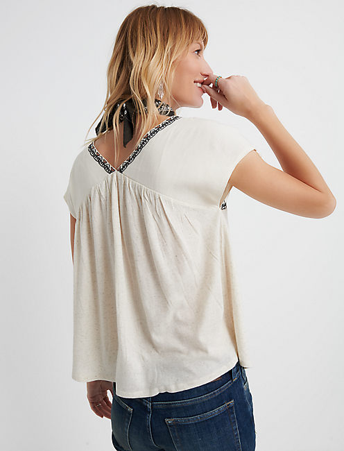EMBROIDERED TOP,