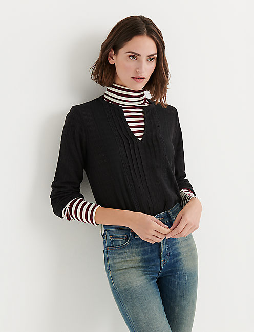 SOLID WOVEN DROP NEEDLE PEASANT,