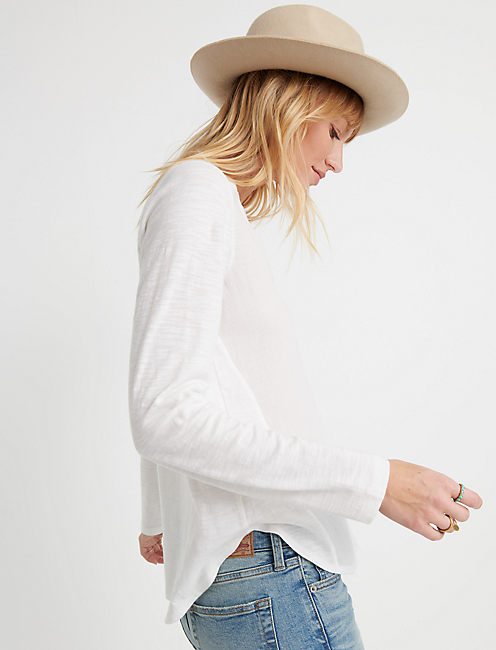 Woven Knit Mixed Top