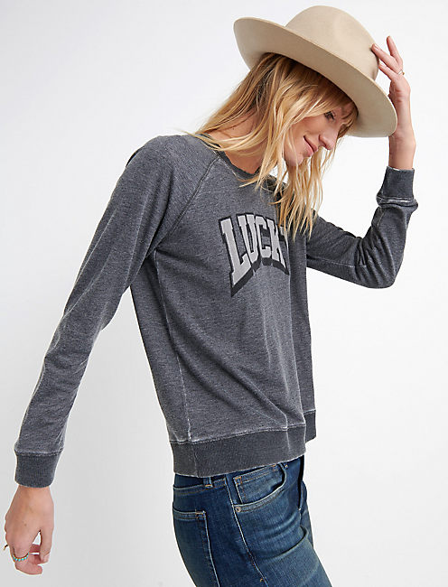 Lucky Logo Burnout Sweatshirt