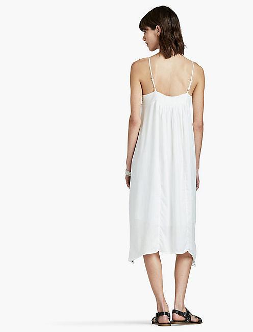 EMBROIDERED DRESS, WHITE MULTI