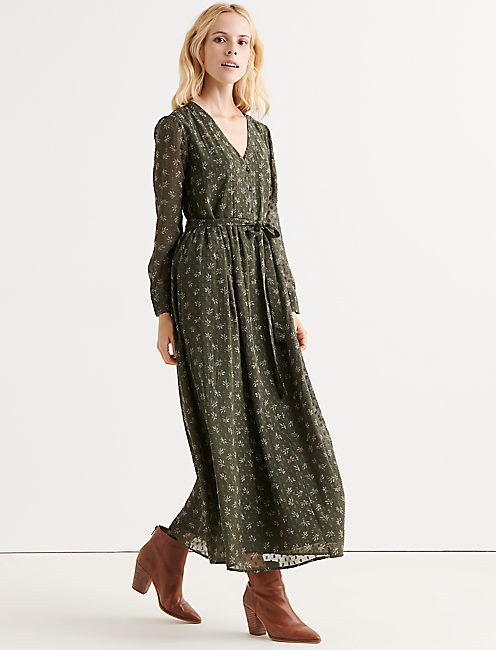 Lucky Button Front Maxi