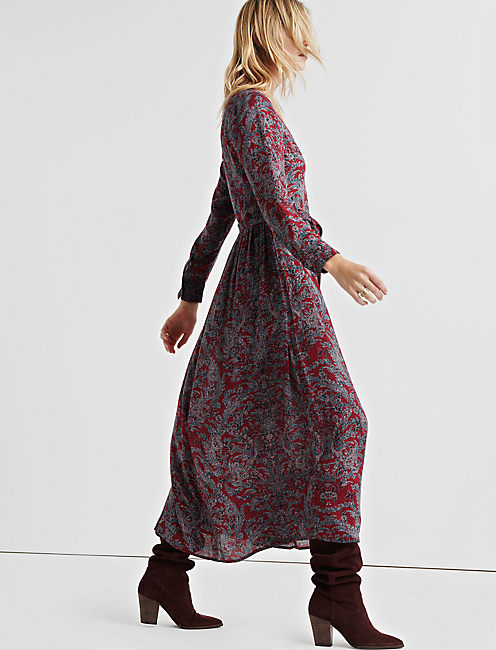 Lucky Paisley Printed Midi Dress