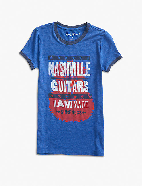 NASHVILLE GUITARS STARS TEE, SURF THE WEB