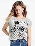 NORTON STRIPED TEE, WHITE MULTI
