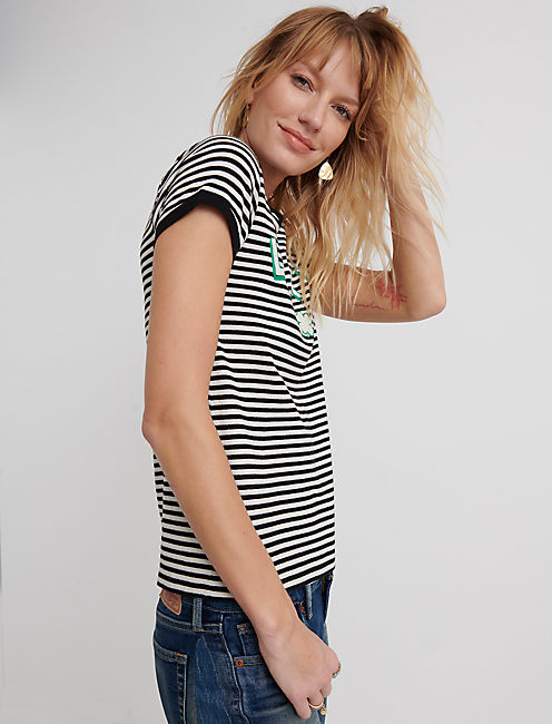 Short Sleeve Lucky Stripe Tee