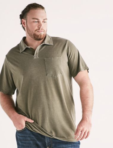 Lucky Big And Tall Burnout Polo