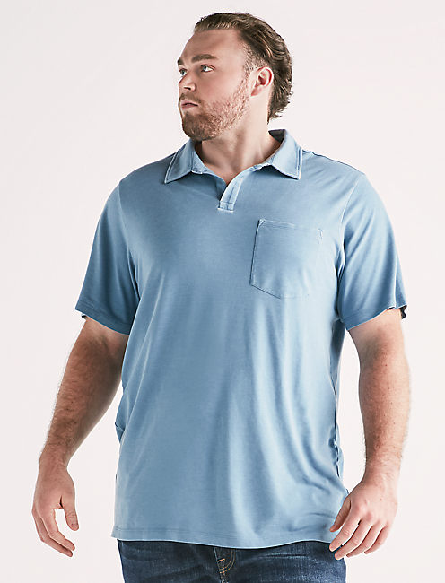 Big and Tall Burnout Polo,