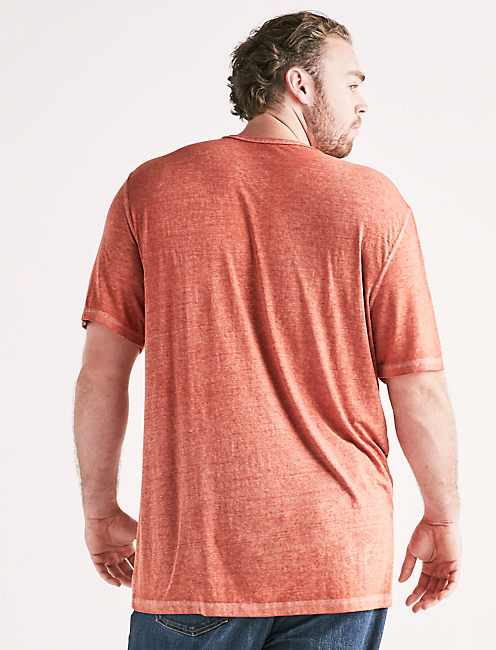 Big and Tall Venice Burnout Notch Tee,