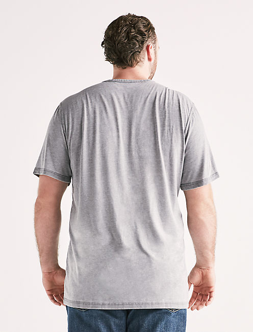 Big and Tall Venice Burnout Button Notch Tee,