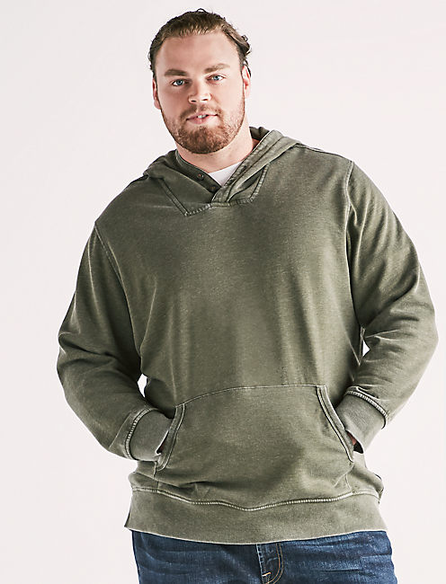 Lucky Big And Tall Burnout Hoodie