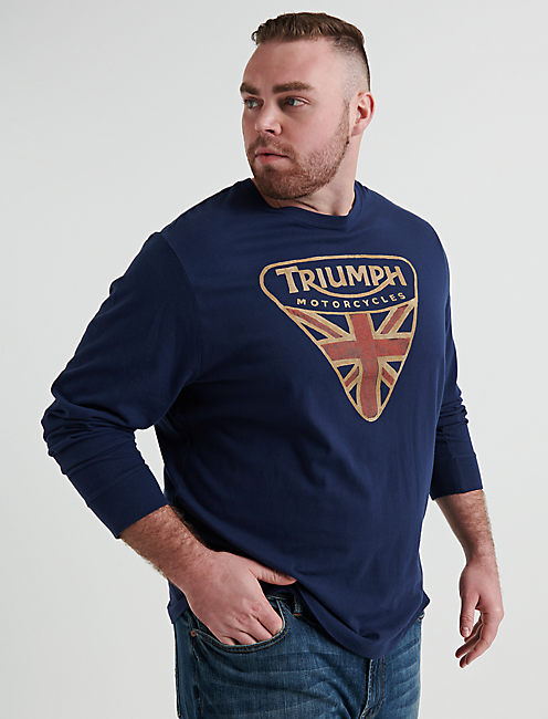 BIG AND TALL TRIUMPH BADGE TEE,